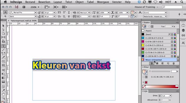 II - InDesign - Teken- en alinea opmaak [2014-2015]